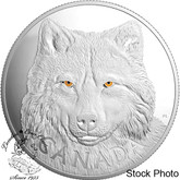 Canada: 2017 $250 In the Eyes of the Timber Wolf Silver Coin