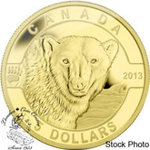 Canada: 2013 $5 The Polar Bear O Canada Series 1/10 oz Pure Gold Coin