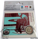 Canada: 2007 25 Cent Vancouver Olympics Wheelchair Curling Sport Card with Coin