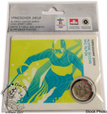 Canada: 2008 25 Cent Vancouver Olympics Alpine Skiing Sport Card with Coin