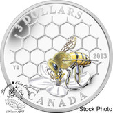 Canada: 2013 $3 Animal Architects: Bee & Hive Pure Silver Coin