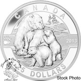 Canada: 2013 $25 The Polar Bear O Canada Series 1 oz Pure Silver Coin