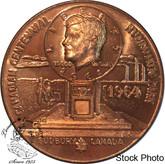 Canada: 1964 Sudbury Numismatic Park John F. Kennedy Medallion in Bronze