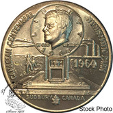 Canada: 1964 Sudbury Numismatic Park John F. Kennedy Medallion in Nickel