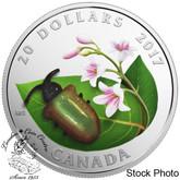 Canada: 2017 $20 Little Creatures - Dogbane Beetle Silver Coin