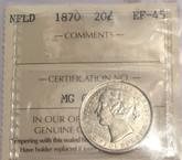 Canada: Newfoundland 1870 20 Cents ICCS EF45