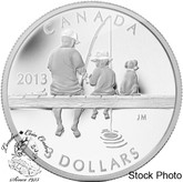 Canada: 2013 $3 Fishing Pure Silver Coin