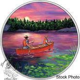 Canada: 2017 $15 Great Canadian Outdoors: Sunset Canoeing Silver Coin