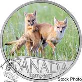 Canada: 2017 $10 Celebrating Canada's 150th - Wild Swift Fox and Pups