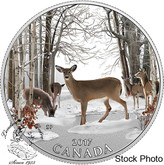 Canada: 2017 $10 Iconic Canada: Spring Sightings Silver Coin