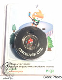 Canada: 2010 50 Cent Vancouver Olympics Coin and Hockey Puck - Miga