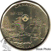Canada: 2017 $1 Connecting A Nation BU Coin