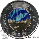 Canada: 2017 $2 Dance Coloured BU Coin