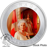 Canada: 2013 25 Cent Her Majesty Queen Elizabeth II Coronation Coloured Coin