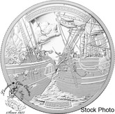 Canada: 2013 $50 War of 1812 - HMS Shannon & USS Chesapeak 5 oz Silver Coin
