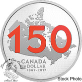 Canada: 2017 $1 150th Anniversary of Canada with Red Enamel (from Proof Set)