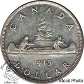 Canada: 1945 $1 AU50
