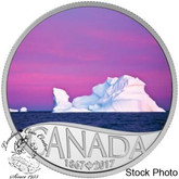 Canada: 2017 $10 Celebrating Canada's 150th: Iceberg at Dawn Silver Coin
