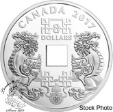 Canada: 2017 $8 Feng Shui Good Luck Charms Silver Coin