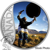 Canada: 2017 $10 Celebrating Canada's 150th: Drum Dancing Silver Coin