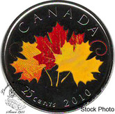 Canada: 2010 25 Cent OH! Canada - Three Maple Leaves Proof Like