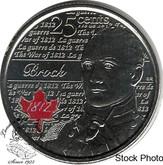 Canada: 2013 25 Cent Brock Coloured BU