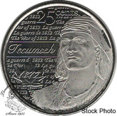 Canada: 2012 25 Cent Tecumseh BU