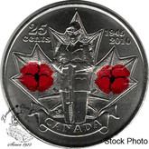 Canada: 2010 25 Cent Poppy Coloured BU