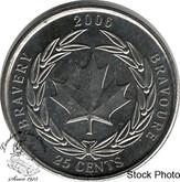 Canada: 2006 25 Cent Logo Bravery BU