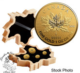 Canada: 2018 The Maple Leaf 99.999% Pure Gold 4-Coin Fractional Set