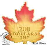 Canada: 2017 $200 Autumn Fire - 1 oz. Pure Gold Coloured Coin