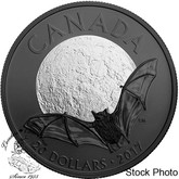 Canada: 2017 $20 Nocturnal by Nature: The Little Brown Bat - 1 oz. Pure Silver Coin