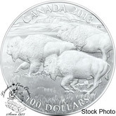 Canada: 2013 $100 for $100 Bison 1oz Silver Coin #1 in the Series