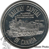 Canada: St. Thomas Railway Capital of Canada Trade Dollar