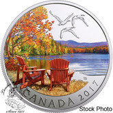 Canada: 2017 $10 Iconic Canada Autumn's Palette Silver Coin