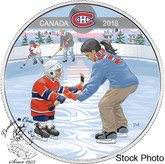Canada: 2018 $10 Learning to Play: Montreal Canadiens® Silver Coin