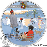 Canada: 2018 $10 Learning to Play: Ottawa Senators® Silver Coin