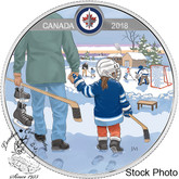 Canada: 2018 $10 Learning to Play: Winnipeg Jets Silver Coin