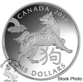 Canada: 2018 $15 Year of the Dog - Pure Silver Coin