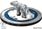 Canada: 2018 $50 Polar Bear Soapstone Sculpture 5 oz. Pure Silver Coin