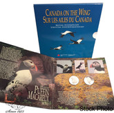 Canada: 1995 50 Cents Birds of Canada Atlantic Puffin/Whooping Crane 2 Coin Set