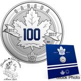 Canada: 2017 $3 Toronto Maple Leafs® Anniversary Logo Pure Silver Coin