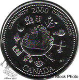 Canada: 2000 25 Cent December Community BU