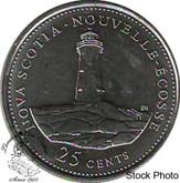 Canada: 1992 25 Cent Nova Scotia BU