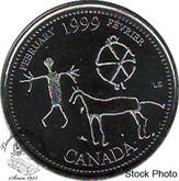 Canada: 1999 25 Cent February BU