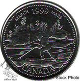 Canada: 1999 25 Cent March BU