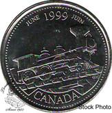 Canada: 1999 June 25 Cent BU