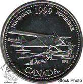 Canada: 1999 25 Cent November BU