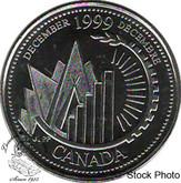 Canada: 1999 25 Cent December BU