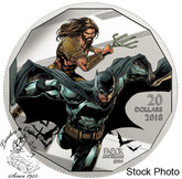 Canada: 2018 $20 The Justice League: Batman and Aquaman Pure Silver Coloured Coin